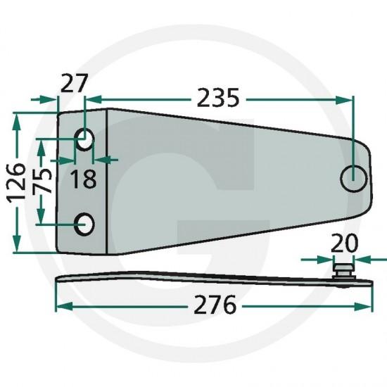 Suport cutit cositoare Kuhn PZ 525PZ 0116
