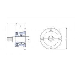 Rulment BAA 0004 SKF - pentru disc cu 4 gauri