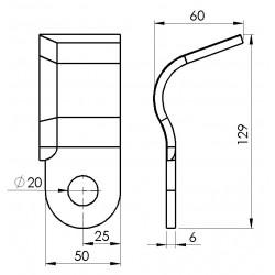 Cutit tocator stanga ZMAJ 222-24/03