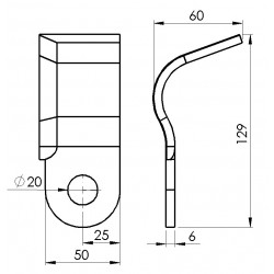 Cutit tocator dreapta ZMAJ 222-24/02